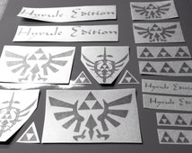 Set of 25 Triforce DECALS Vinyl sticker home decor car window nintendo controller zelda link hyrule edition logo