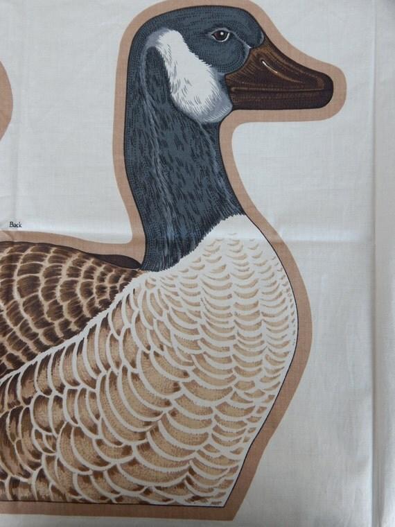 Bird Fabric Panel Canada Goose Fabric Panel/wild
