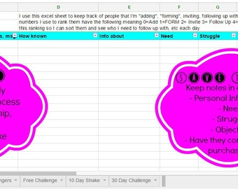 THE Tracker for Beachbody Coaches- Challenger/Coach/Prospect Organizational Tracker