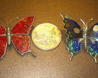 Sparkly Butterfly Pins