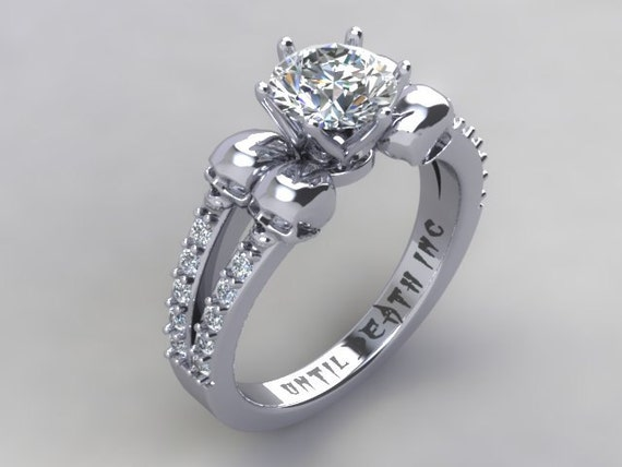 Skull Engagement Ring The Original Secret Skull By UntilDeathInc