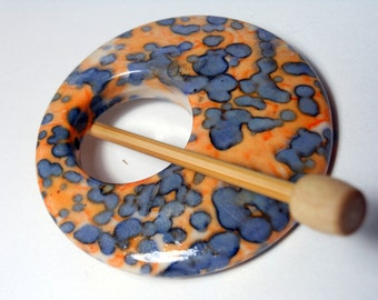 Skipping Stones II Shawl Pin ~ Porcelain ~ For Delicate Knits