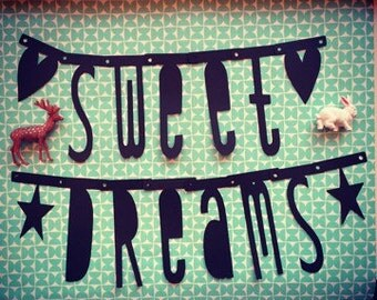 Sweet Dreams Bunting | Garland | Wordbanner | Black