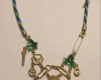 Disney inspired tinkerbell tinker lost thing necklace