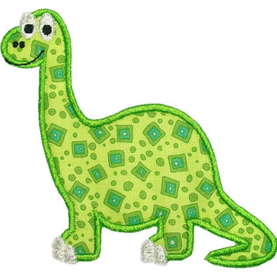 Dinosaur Machine Embroidery Digital Applique Design Brontosaurus Saurus