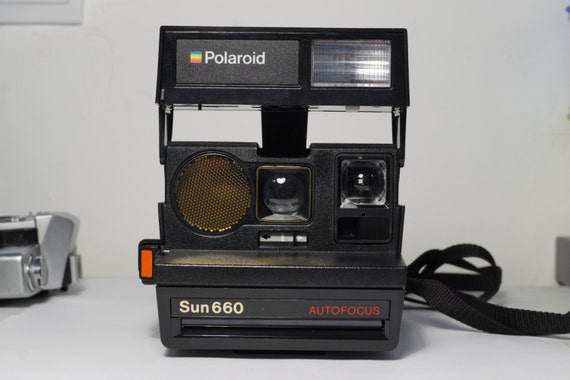 polaroid sun 660 autofocus by vintagebp on etsy. Black Bedroom Furniture Sets. Home Design Ideas