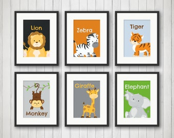 Jungle Decor - Jungle Bedroom Decor, Animal Prints, Nursery Decor, Jungle Nursery, Playroom Decor, Kids Room Decor, Jungle Birthday