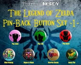 The Legend of Zelda Pin-back Button Set 1