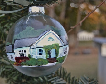 House or Home Portrait on Christmas Ornament
