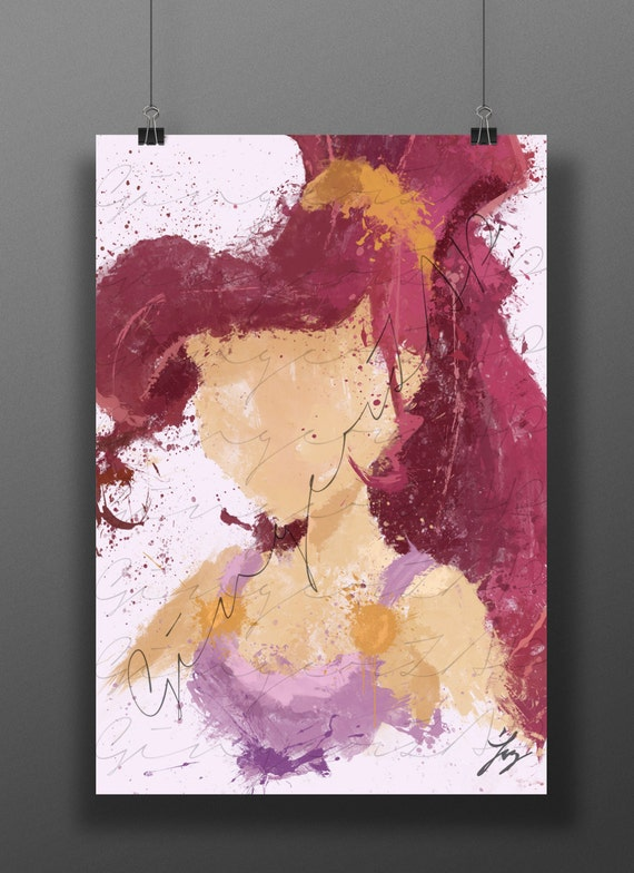 Princess of the hero impressionist digital painting for Abstract impressionism definition