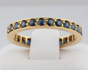 Reduced!!!!! Vintage natural sapphire eternity ring