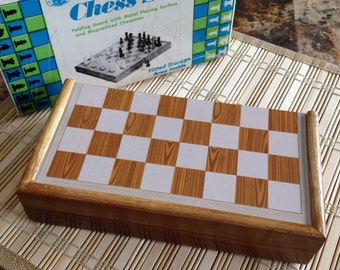 Vintage magnetic chess set by Chadwick