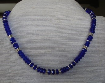 Cobalt and silver necklace