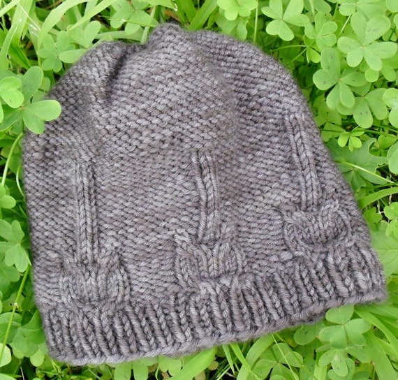 Knitting Pattern Guitar Hero Hat Cable Knit Hat w. Guitars