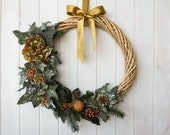 RESERVED FOR ENRICO-Classy large Christmas wreath, Italian large Xmas wreath,elegant Holidays decor made in Italy, gorgeous Christmas wreath