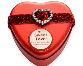 Gift Ring Box Red Heart