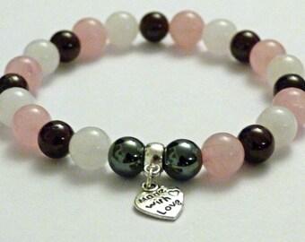 Crystal Healing Gemstone Bracelet Menopause Relief