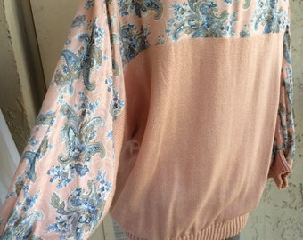 CB Collections vintage Peach Sweater