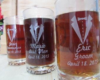 Best Groomsmen Gift, Set of 4, Groomsmen Gift Ideas, Personalized Beer Stein, Custom Beer Mug, Best Man Gift, Groomsman Gifts