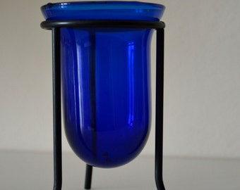 Blue pot pourri or flowers holder