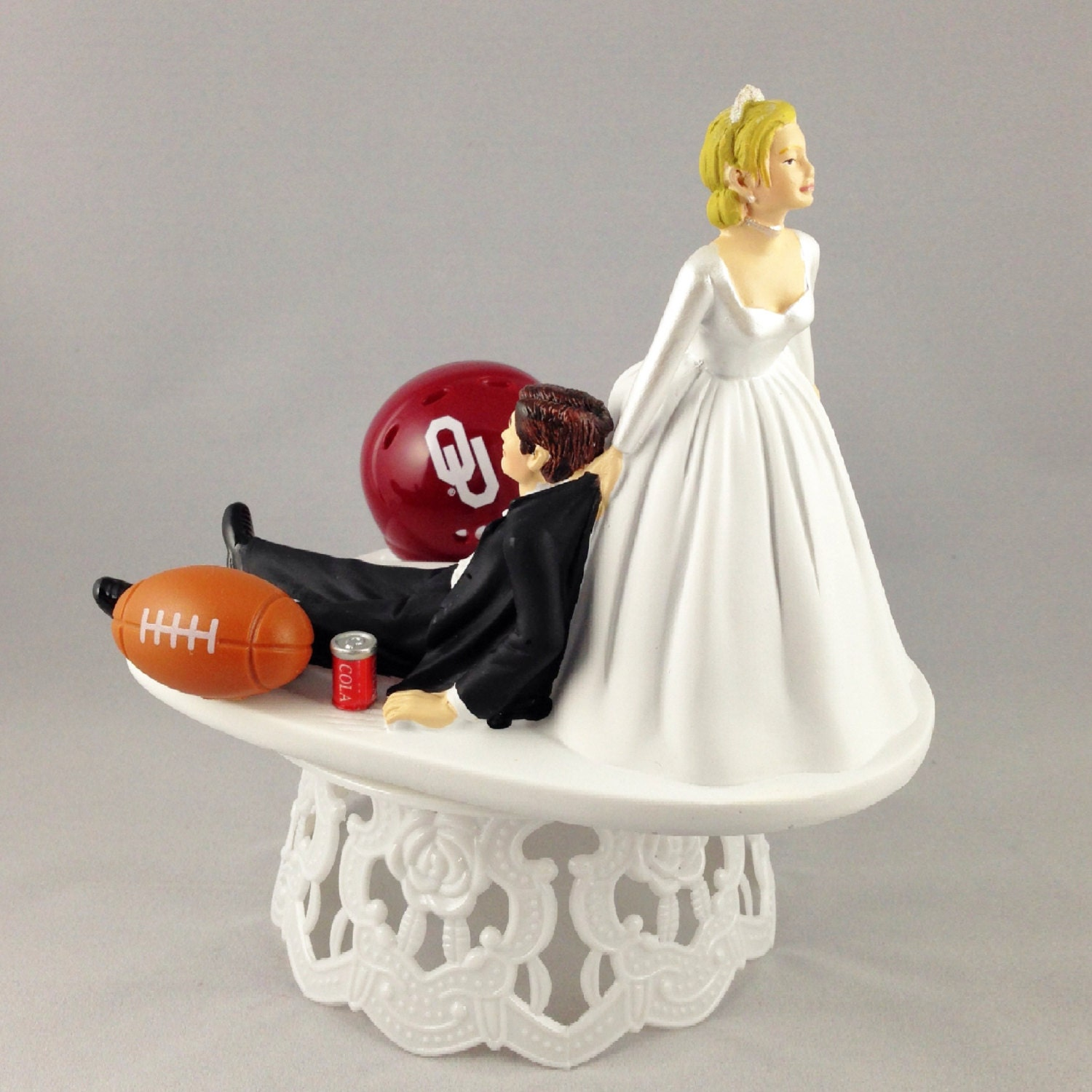 Funny Wedding Cake Topper Oklahoma Sooners by