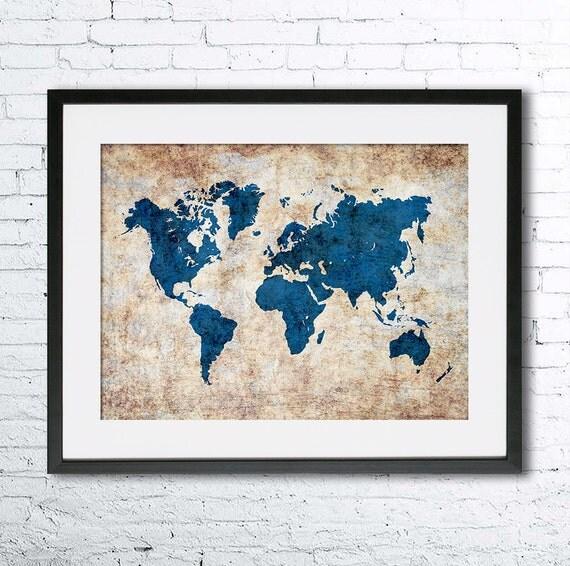 Väggdekor G : Handla från hela världen hos pricepi world map style duk