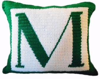 Crochet Pattern - Letter M Crochet Pillow