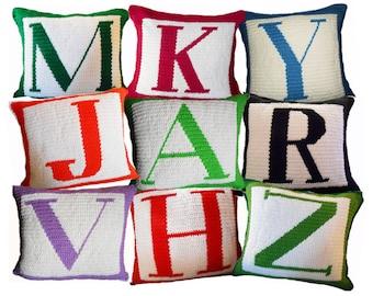 Letter Crochet Pillow