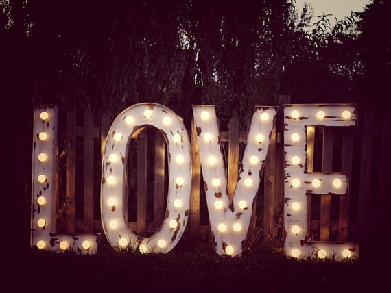 Love Sign for Yard or House by Lamplight Design Company