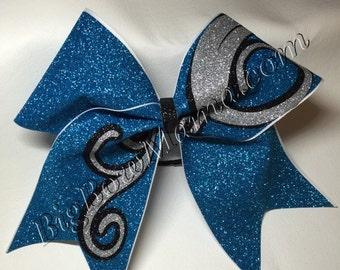 Glitter Designed Cheer Bow