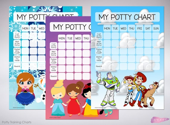Toy Story Potty Chart : Items similar to toy story potty training printable chart