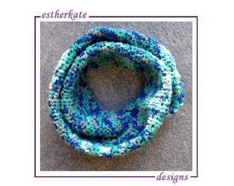 CROCHET PATTERN pdf, chunky crochet infinity waterfall scarf for child or adult, instant DOWNLOAD