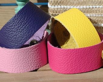"Wholesale 1"" leather Cuff Bracelet - Cuff Wristband - 4 pk Cuffs"