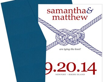 Tying the Knot Save the Date