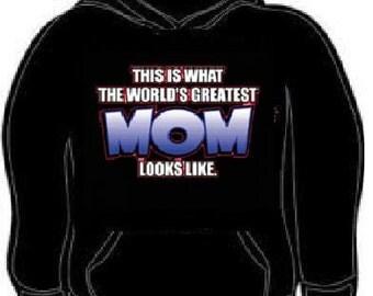 Hoodies: This is whats the worlds best mom looks like hoodie sweatshirt