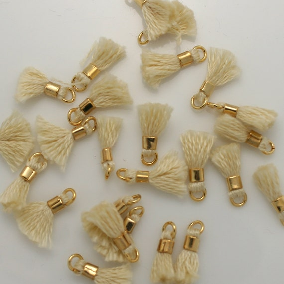 Soy 04 beige mini borlas peque as borlas vintage - Como hacer borlas de hilo ...