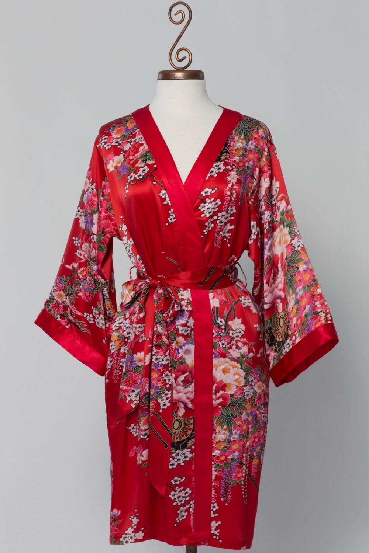 Lyst - La Perla Women's Silk Robe - Midnight - Size Medium ... |Red Silk Robe