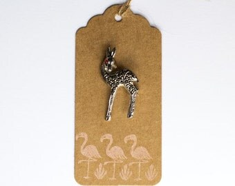 Vintage marcasite deer brooch circa 1960