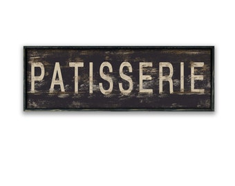 Patisserie wooden sign Patisserie signs bakery signs kitchen signs business signs kitchen wall art patisserie wall art vintage bakery signs