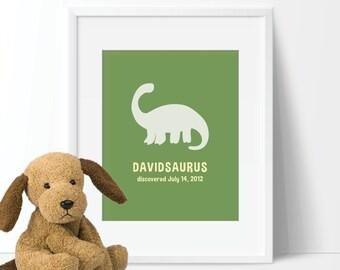 Dinosaur Nursery Art - Boy Nursery Art - Dinosaur Bedroom Decor - Dinosaur Nursery Decor - Dinosaur Nursery Print. Dino Art. Canvas (S-154)