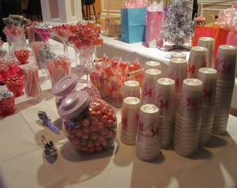 16oz Wedding Candy Table Cups