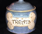 Dog Treat Jar, SECONDS container canister treats