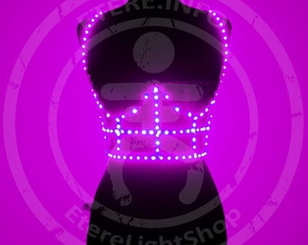 Pink LED cage corset