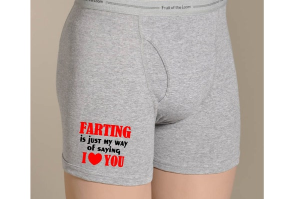 items similar to farting joke mens boxers briefs valentines day gift for men anniversary gift funny i love you undies i fart joke way to say love you - Valentines Boxer Briefs