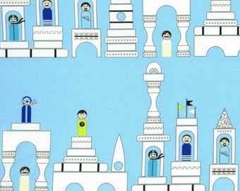 Les Monsieurs, Monsieur Blocks in Sky by Tamara Kate for Michael Miller Fabrics 2093