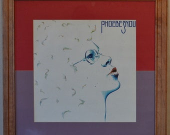 Phoebe Snow <the album> with the song Poetry Man in a cherry frame with two tone matte, vinyl music art, album art, wall art, rec room art