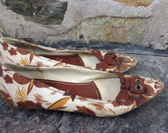 Enzo Angiolini Fall Floral Flats