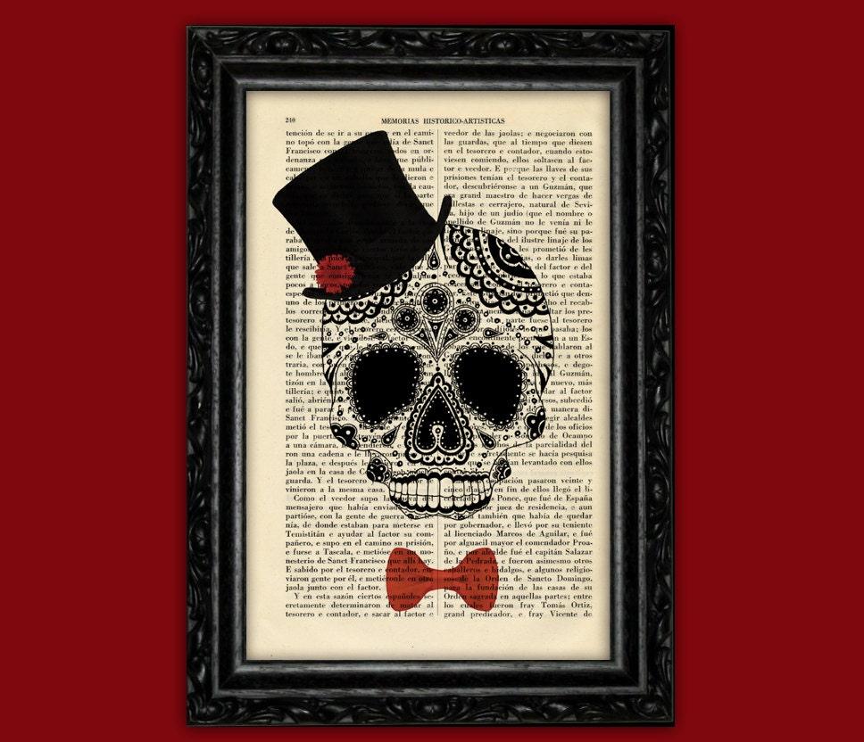 Sugar Skull Bow Tie Sugar Skull Hat Bow Tie