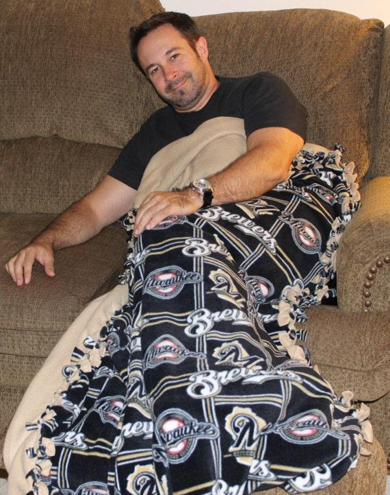 NCAA Fleece | MLB Fleece | Milwaukee Brewers | Wisconsin Badgers | Badgers Fleece | Sports Blanket | Brewers Fleece | college football