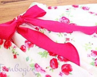 SALE ITEM :) 4-6 Y/O Girls circle skirt / twirly skirt, Australian made, kids circle skirt, girls cotton skirt,  with pink ribbon